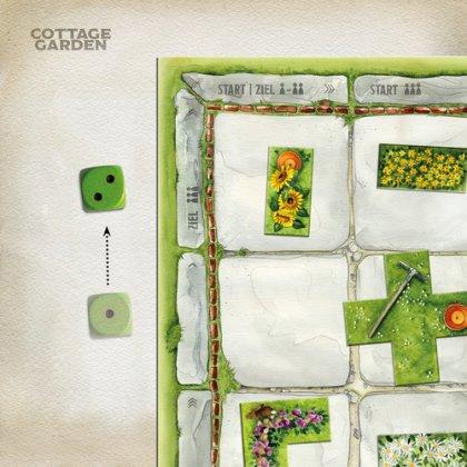 Cottage Garden: dado e tabellone