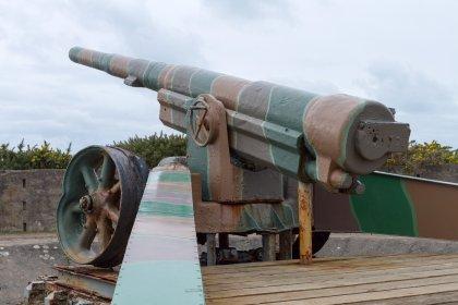 Pointe du Hoc - l'artiglieria tedesca