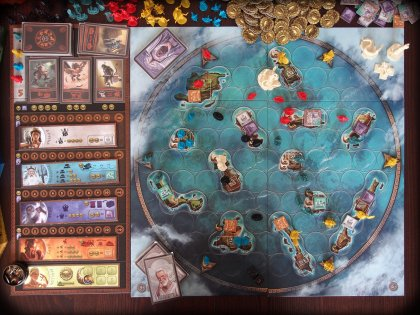 Cyclades: tabellone
