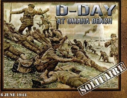Copertina del gioco da tavolo per un giocatore D-Day at Omaha Beach