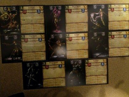 Darklight: schede personaggi