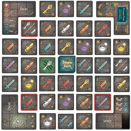 Dungeon Hustle: tabellone
