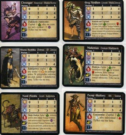 Dungeoneer: personaggi