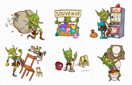 Dungeon WC: goblin easter egg