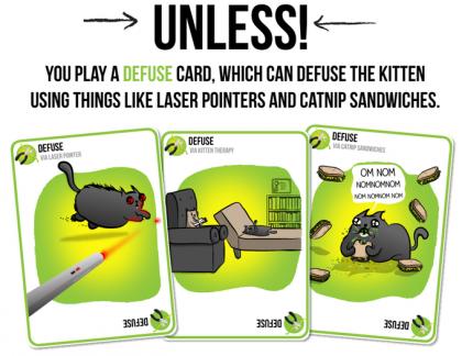Exploding Kittens: carte defuse