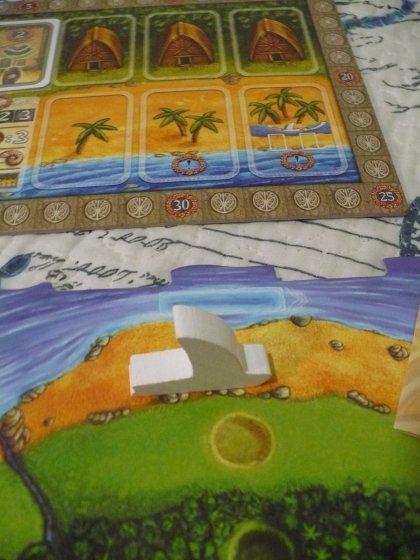 Condizione di fine partita di Stromboli: barca su spiaggia senza carte