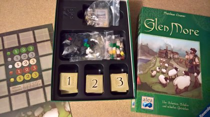 Glen More: materiali di gioco