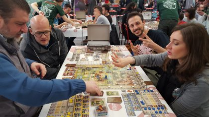 Great Western Trail: tavolo demo al Goblin Magnifico