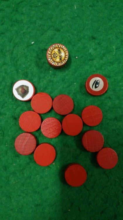 Lancelot: pedine giocatore rosso