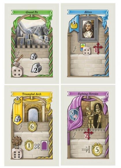 Le carte del gioco da tavolo Lorenzo il Magnifico