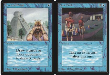 Magic: ancestral recall e time walk
