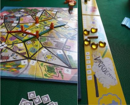 Bus sul tavolo da gioco