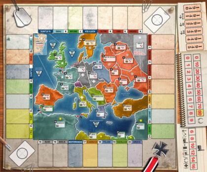 Fog of War: tabellone di gioco