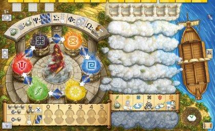 Plancia giocatore del gioco da tavolo L'oracolo di Delphi di Stefan Feld