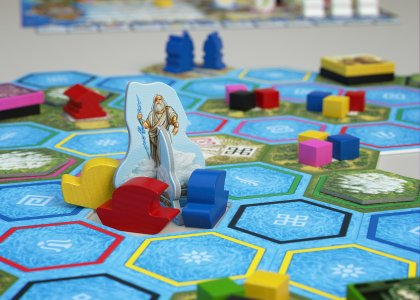 Tabellone con Zeus del gioco di Stefan Feld L'oracolo di Delphi