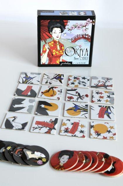 Contenuto della scatola del gioco di Okiya