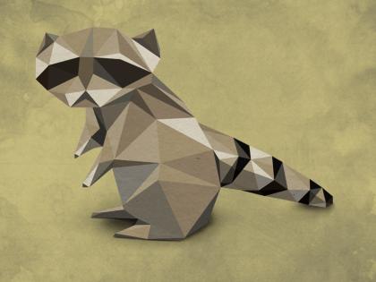 origami procione