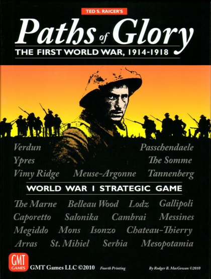 Paths of Glory: copertina del gioco da tavolo sulla prima guerra mondiale