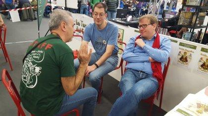 Gli autori di Food Chain Magnate conversano con uno dei Goblin (NonnoGoblin)