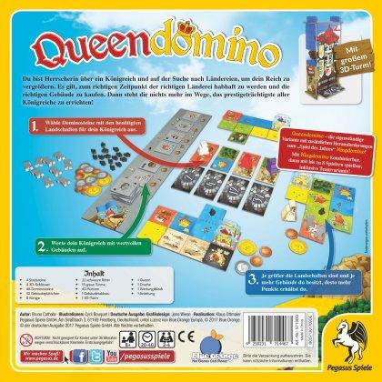 Queendomino: retro della scatola