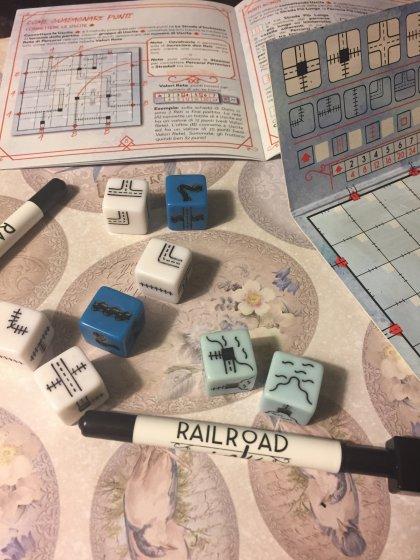 Railroad Ink scatola blu materiali