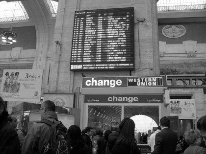 ritardo alla stazione