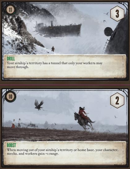 Scythe: The Wind Gambit: abilità passive delle navi