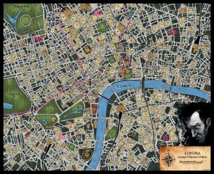 Sherlock Holmes: cartina