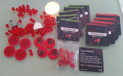 Esempio componentistica giocatore, Rosso