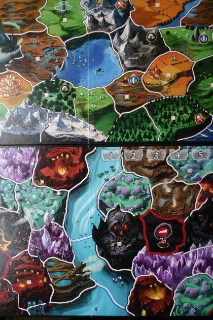 Confronto mappa di Small World e Small World Underground