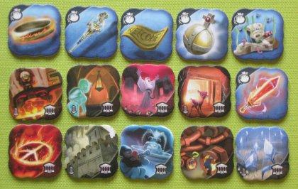 Small World Underground: token Luogo e Reliquia