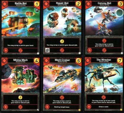 Star Realms Colony Wars carte rosse