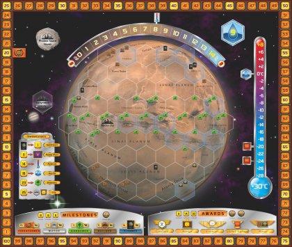 Terraforming Mars: tabellone