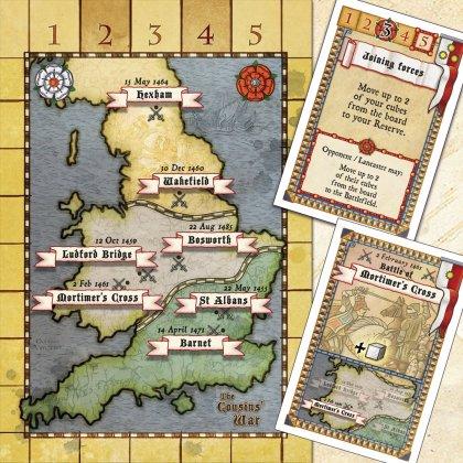 The Cousins' War: mappa e carte