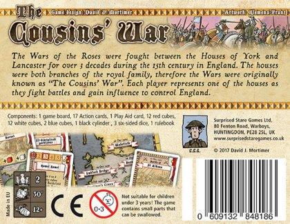 The Cousins' War: retro della scatola