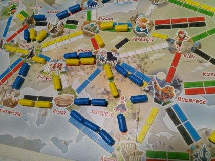 Ticket to Ride: Primo Viaggio - tabellone