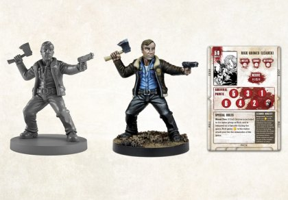 Miniatura e scheda personaggio di The walking dead: all out war