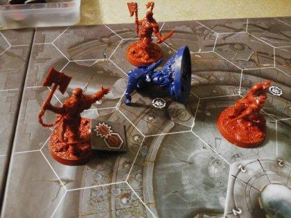 Warhammer Underworlds: Shadespire: combattimento