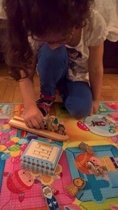 Archelino e Sofia, una piccola giocatrice