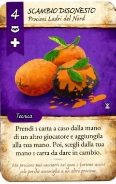 """Carta """"Disonesto"""" del gioco da tavolo La Valle dei Mercanti"""