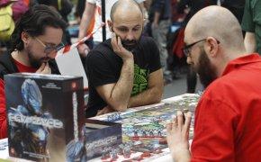 Goblin Magnifico 2017: giocatori al tavolo di Cry Havoc