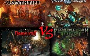 Nuovi Dungeon Crawler per esperti: Gloomhaven vs Perdition's Mouth vs Sword & Sorcery vs Darklight