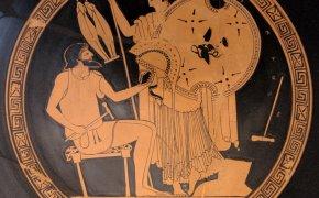 Efesto dona ad Atena le armi di Achille