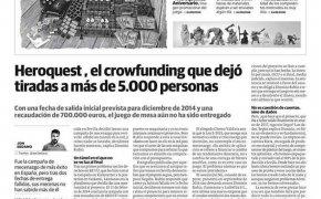 HQ25: articolo su giornale spagnolo