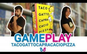 Taco Gatto Capra Cacio Pizza Partita Completa al Gioco da Tavolo di riflessi e risate!