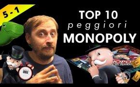 Top 10 peggiori MONOPOLY mai creati ! Posizioni 5 - 1