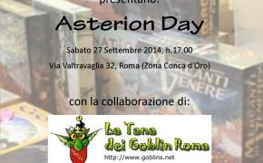 Sabato 27 Settembre Sologiochi e Ready2Play presentano l'Asterion Day – Via Valtravaglia 32 ROMA