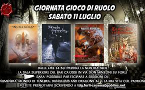 Sabato 11 Luglio giornata Gioco di Ruolo alla Tana dei Goblin Forlì Cesena