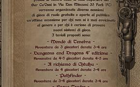 Sabato 21 Marzo Giornata Gioco di Ruolo alla TDG Forlì-Cesena