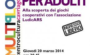 Serata di giochi da tavolo cooperativi al Multiplo di Cavriago (RE) - giovedì 20 marzo ore 20,45